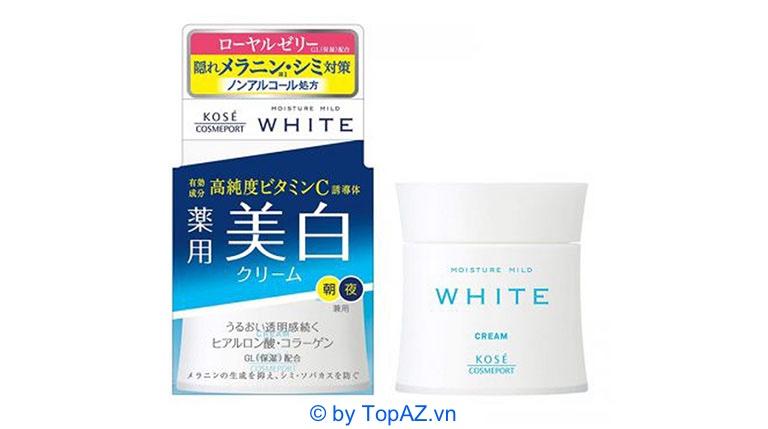 top kem dưỡng trắng da mặt nhật bản