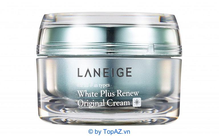 Kem dưỡng trắng da Laneige White Plus Renew Original Cream chứa thành phần chính là Glycerin, vitamin B3,…