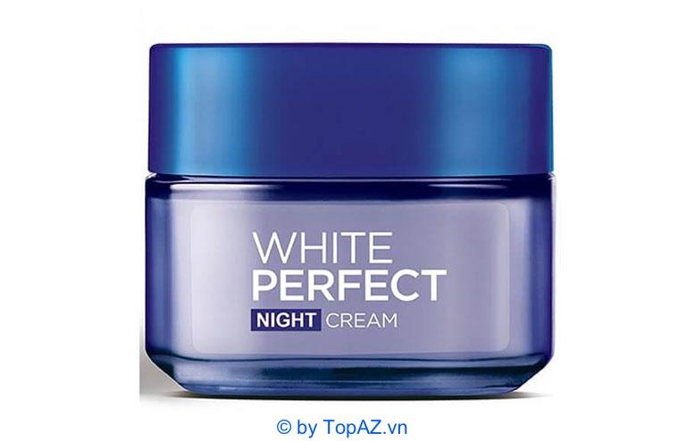 Với kết cấu lỏng nhẹ và thẩm thấu nhanh, kem dưỡng Loreal White Perfect có thể dùng cho mọi loại da