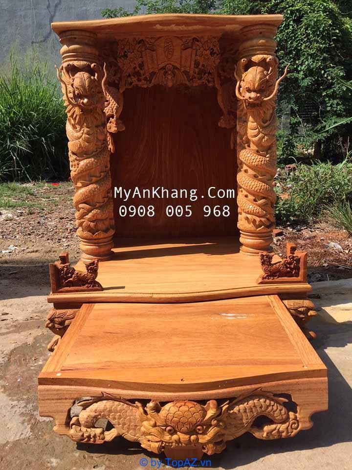 Bàn thờ thần tài đẹp mái bằng tại TPHCM kích thước 81