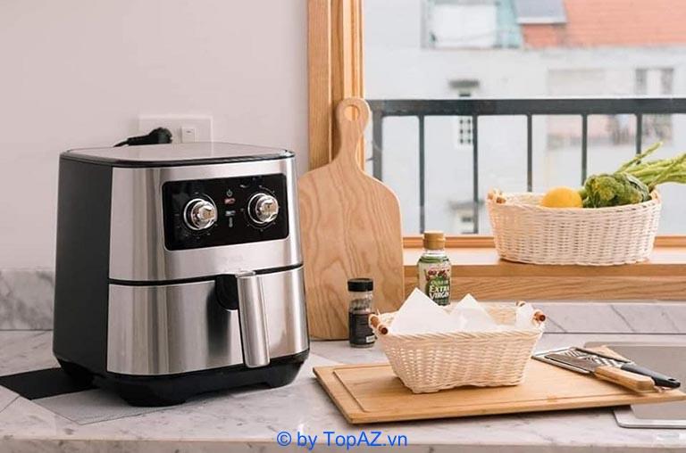 Lotte LTS-AF5SM cho công suất hoạt động lên đến 1700W và nhiều tính năng chiên nướng đa dạng.